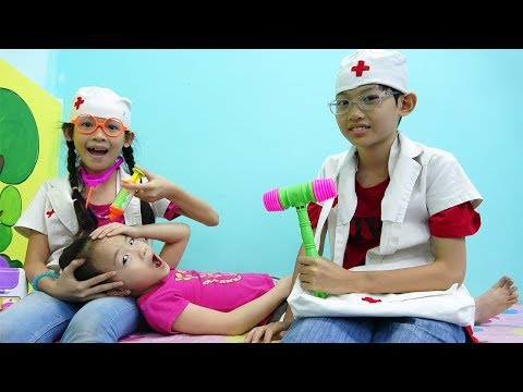 屋内遊び場 子供の医者と! Funny Video for children with nursery rhymes songs for babies, kids - ABCkidtv Misa