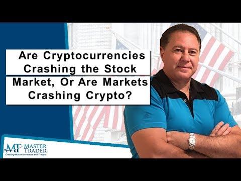 Stock market crash and cryptocurrencies