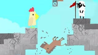 MAKING YOUR FRIENDS RAGE QUIT IN 1,2,3 w/ Tewtiy - ULTIMATE CHICKEN HORSE