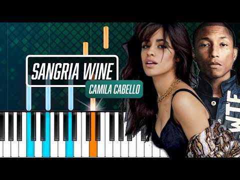 "Camila Cabello x Pharrell Williams - ""Sangria Wine"" Piano Tutorial - Chords - How To Play - Cover"