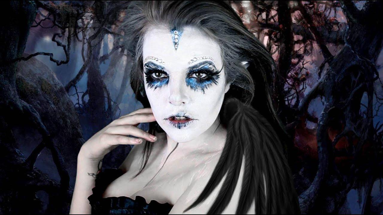 dark evil pixie   halloween makeup tutorial   cherry wallis - youtube