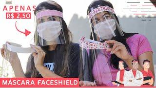 Faça sua Máscara Face Shield – Mascara de Acetato – Fácil e Barato