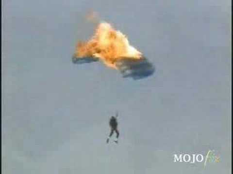 Burning-Parachute