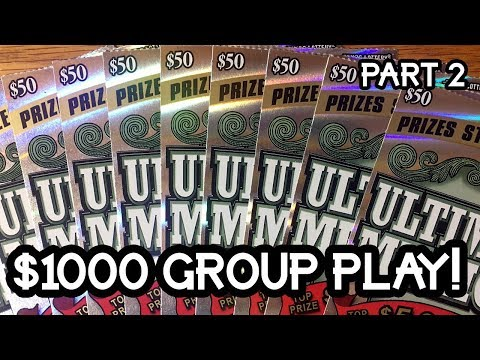 FULL PACK! $50 Ultimate Millions Group Book TEXAS LOTTERY SCRATCH OFF TICKETS