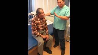 Vertigo exercise for the left ear with Dr. Wong.