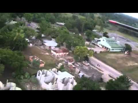 Flying out of Les Cayes, Haiti