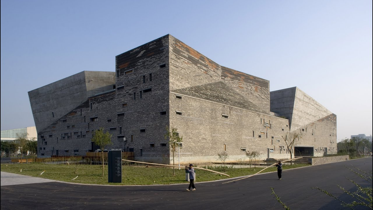 wang shu's ningbo history museum built from the remains of