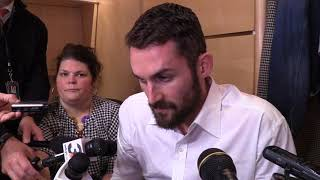 Kevin Love talks about his hand injury, says he'll play in Game 3