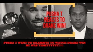 Pusha T REACTS to DRAKE He Attended Grammys Just to WATCH Drake WIn LOL