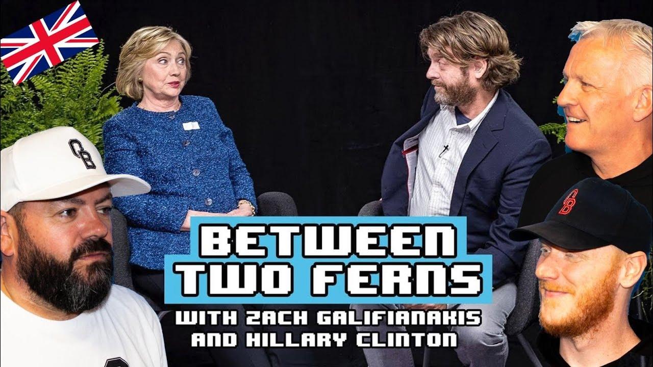 Between Two Ferns - Hillary Clinton REACTION!!   OFFICE BLOKES REACT!!
