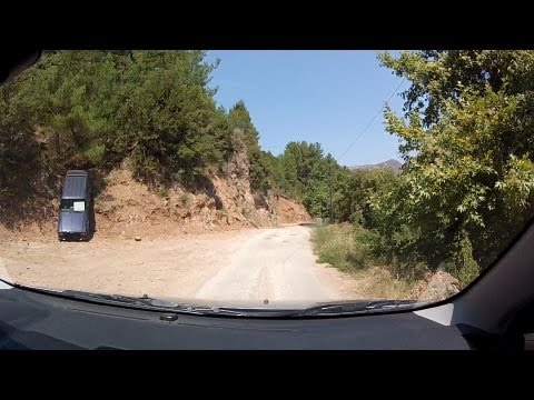 Driving in Vouraikos canyon to Kato Zachlorou (mountain road driving, Greece) - onboard camera