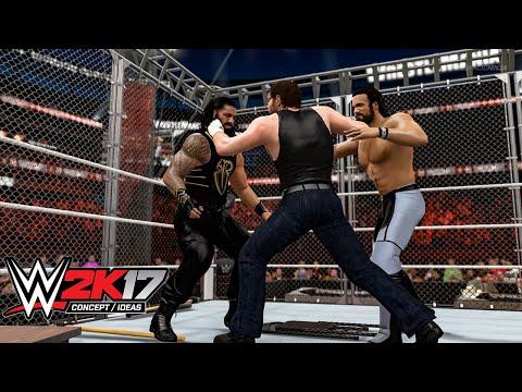 WWE 2K17 Ambrose Asylum Steel Cage Match (Concept/Idea)