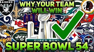 One BOLD Reason Why Your FAVORITE NFL Team WILL WIN Super Bowl 54