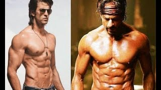 Hrithik finds Shah Rukh's eight pack abs inspiring