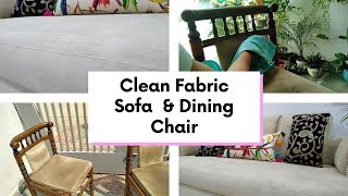 Two Methods To Clean Fabric Sofa  || कपडे के सोफे की सफाई कैसे करें ? || Easy DIY Methods