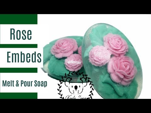 Melt and Pour Soap Making Flower Embed Soap with Clear MP Soap