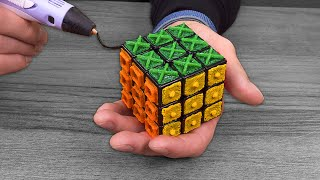 Making Rubik's Cube for Blind People with 3D pen