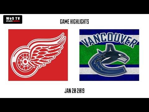 NHL Highlights   Detroit Red Wings vs  Vancouver Canucks   Jan  20, 2019