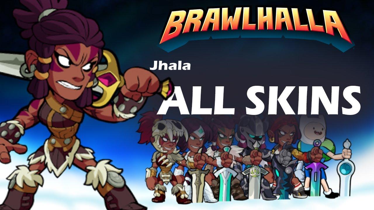 Brawlhalla Jhala ALL SKINS Showcase