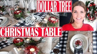 DOLLAR TREE CHRISTMAS TABLE DECORATIONS IDEAS 🎄HOW TO DECORATE YOUR CHRISTMAS TABLE