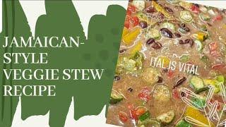 EASY VEGGIE StewMEATLESS Stew PeasITAL Stew Recipe  Whitney&#39s Kitchen Jamaica