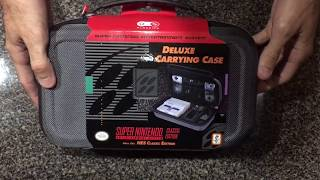 SNES classic deluxe carrying case