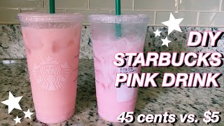 how to make a starbucks pink drink // diy at home