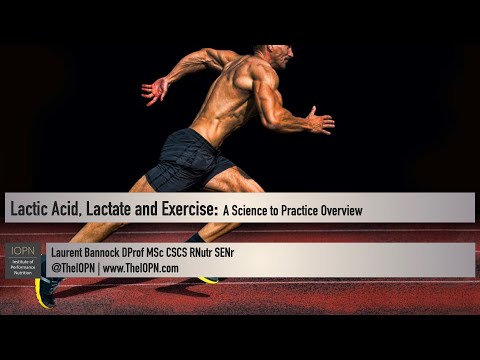 Lactic Acid, Lactate, and Exercise: A Science to Practice Overview