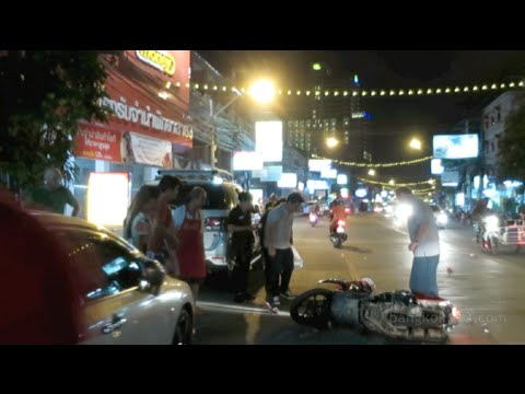 Pattaya NYE 2016 Motorbike Rides (inc. 2 crashes)