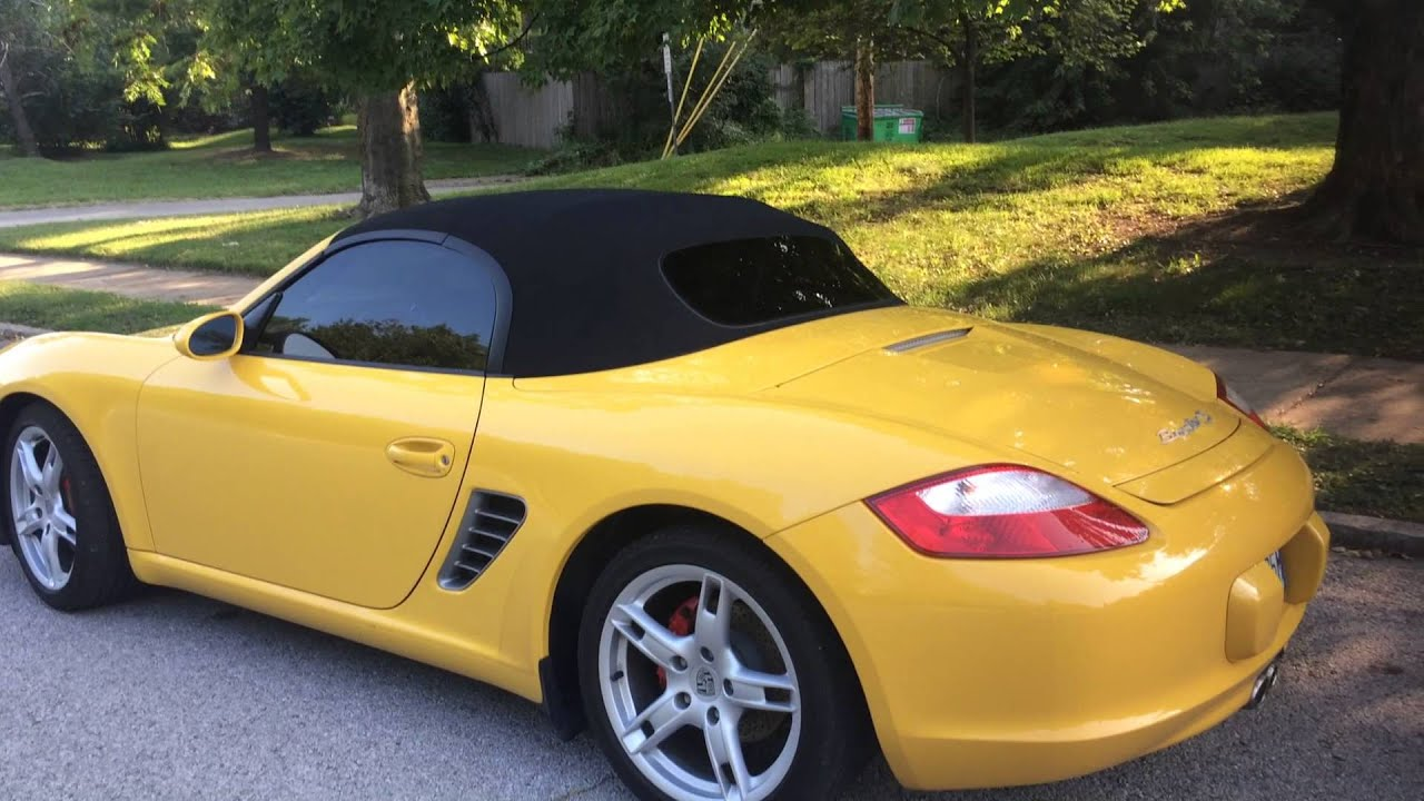 2005 Porsche Boxster S Speed Yellow Walk Around Youtube