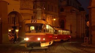 Tram. Prague. ТРАМВАИ Праги. Чехия