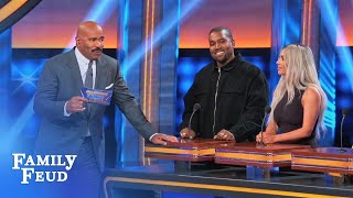Steve Harvey. The man. The mustache | Celebrity Family Feud