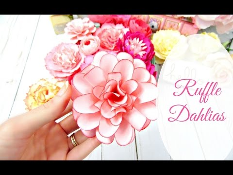 Ruffle Style Paper Dahlia Flower Tutorial