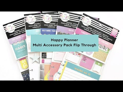 New 2019 Happy Planner Multi Accessory Packs Flip Through - More Stickers!