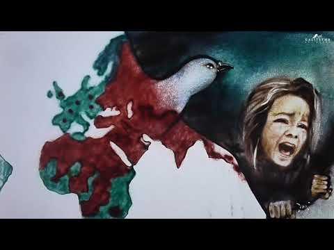 Eurovision 2018 Italy: Ermal Meta & Fabrizio Moro - Non Mi Avete Fatto Niente. Sand Animation art