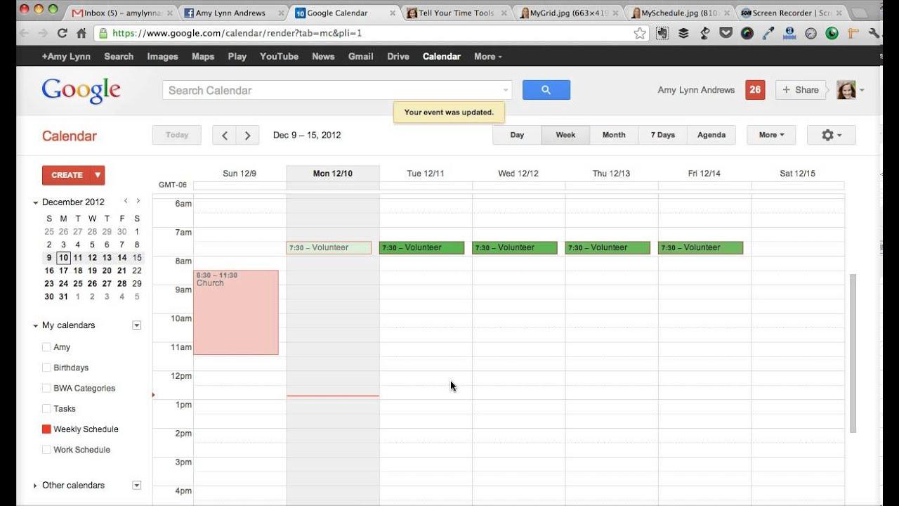 make weekly schedule