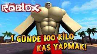 1 GÜNDE 100 KİLO KAS YAPMAK! - Roblox