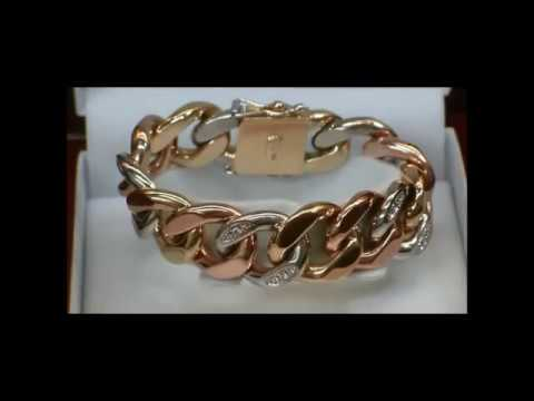 YARING PLATERO Video 88 - 145.5 Grams 18K Tri-Gold Cuban Link Bracelet