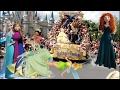 Disney Princess Party Parade Festival Of Fantasy Belle Elsa Anna Tiana Rapunzel Tinker Bell Ariel