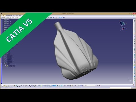 Flask part 1 - Catia v5 GSD Training - Multi section surface - Blend
