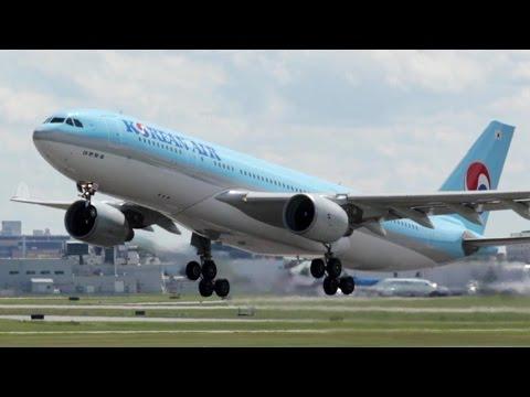 Korean Air A330-223 [HL8211] Landing and Takeoff at Calgary Airport ᴴᴰ