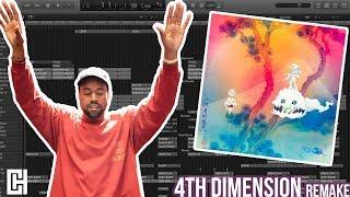 KIDS SEE GHOSTS | 4th Dimension Instrumental Logic Pro Tutorial