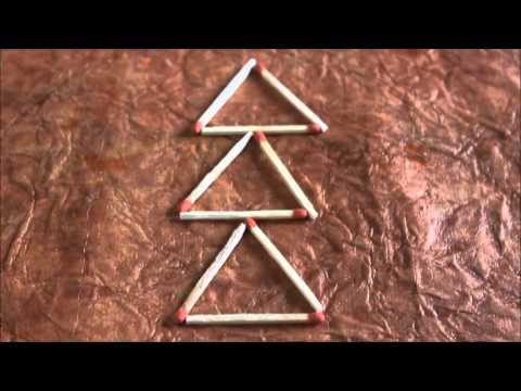 Puzzle 9 - With The Match Stick Forming 4 Triangles    Bet An Trick Your Friends