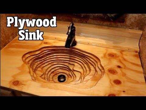 How to Build a Rustic Plywood sink & countertop for $200 in 2 days pt1of2