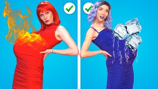 HOT PREGNANT VS COLD PREGNANT || RED VS BLUE Funny Pregnancy Situations by Kaboom!