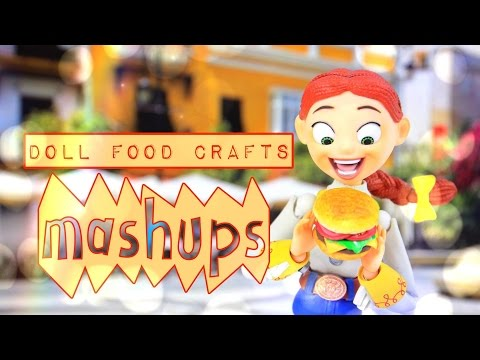 Mash Ups: Doll Food Crafts | Paper Crafts | Hamburger | Watermelon | Edible Cakes and More
