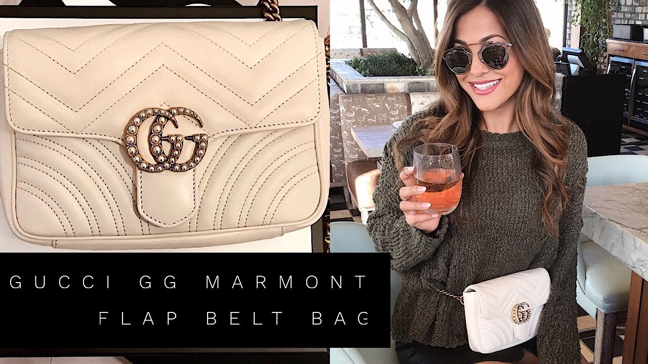 6c44e3688a38 GUCCI GG MARMONT MATELASSE FLAP BELT BAG | GUCCI FANNY PACK - YouTube
