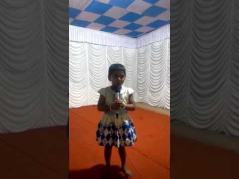 Akamsha(my daughter)singing kudumba unit varshikam