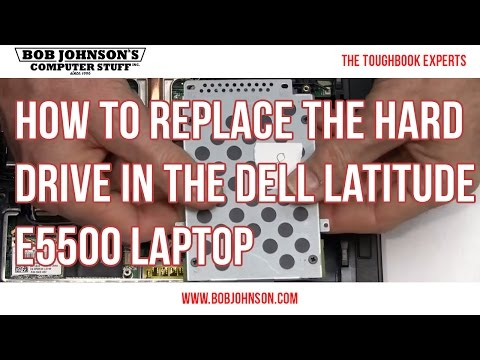 How To Replace The Hard Drive In The Dell Latitude E5500 Laptop