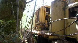 Video Tour of Abandoned Madill Yarder on Mack LRSW Truck Carrier